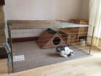Strong foldable collapsible rabbit run. Indoor and outdoor. Pet. Puppy dog training. Chicken coop.