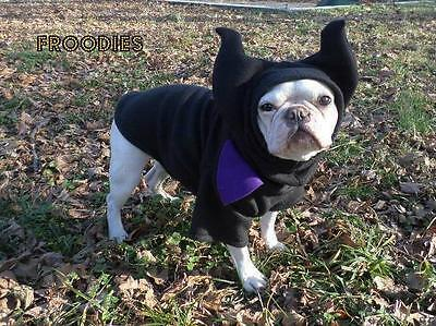 French Bulldog Boston Terrier Pug Dog Froodies Hoodies Costume Maleficent Fairy](Costume Pug)