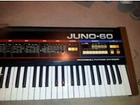 Roland Juno 60 Vintage Analogue Synth with Kenton pro dcb mkii CAN POST