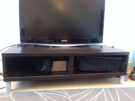 Black Wooden TV Unit with Storage Space