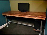 Rustic Reclaimed Industrial Computer Office Desk