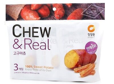 SWEET POTATOES CHEW & REAL Korean  Healthy Food Snack 60g X 3EA  1SET