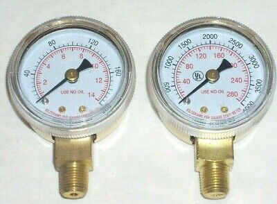Oxygen Regulator Gauge Set For Port A Torch Tanks 1 12 Dia W 18 Npt Inlet
