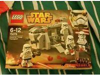 Star wars lego 75078 Imperial troop transport.