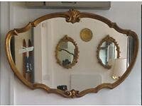 Vintage gilt framed wall mirror