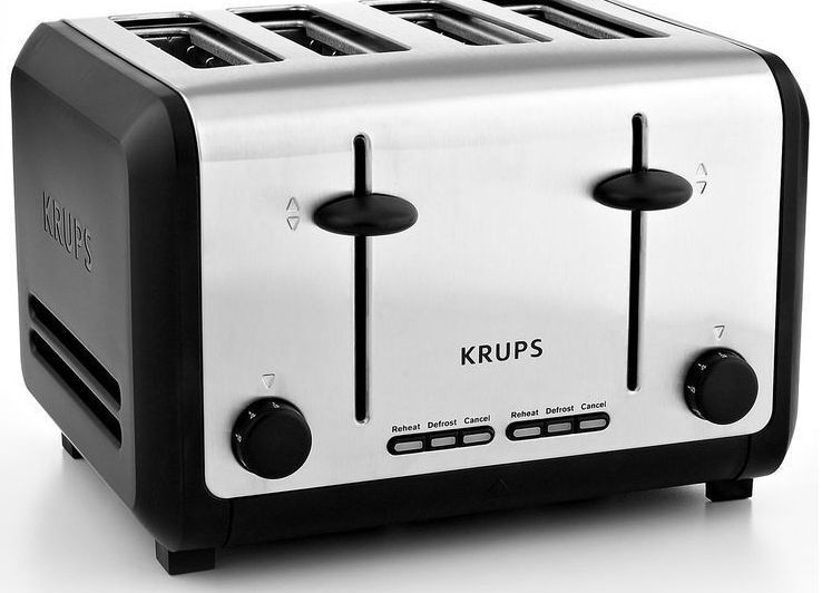 KRUPS KH734D50 Breakfast Set 4-Slice Toaster with Brushed an