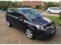 VAUXHALL ZAFIRA DESIGN, BLACK LEATHER, FULL SERVICE HISTORY, MOT 12 MONTHS, HPI CLEAR