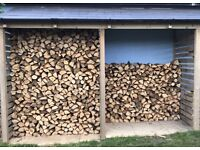 Dry hardwood logs