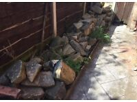 A COLLECTION OF ROCKERY ROCKS - £45 ONO