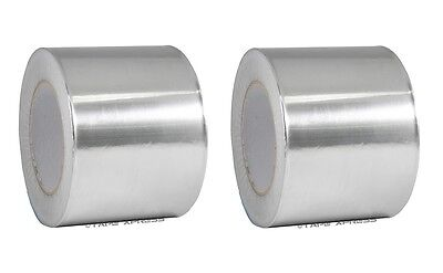2 Rolls Aluminum Foil Tape 4 X 150 With Liner - Malleable Foil - Free Shipping
