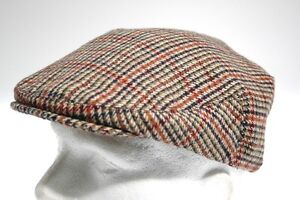 Classic Country Tweed Flat Cap Boys Mens Hat Farmer Golf Ladies Kids Childs