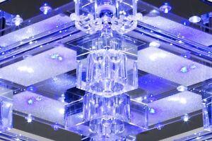 plafonnier led halog ne avec t l commande lampe de salon lustre en verre 32836 ebay. Black Bedroom Furniture Sets. Home Design Ideas
