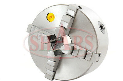 Shars 6 4 Jaw Self Centering Lathe Chuck With Back Plate 1-12 X 8tpi Southbend