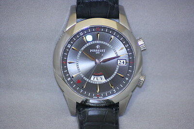 Perrelet Alarm Round    A10111 SILVER Dial  List $6700.00