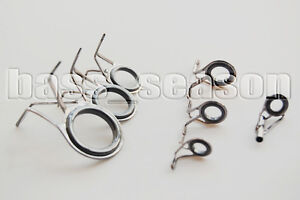 Fishing Rod Eyes 7 Pcs Vintage Oval Fishing Rod Guides Fishing Line Rings