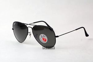 Ray-Ban-New-3025-RB3025-Polarized-002-58-Black-Aviator-62mm-Sunglasses