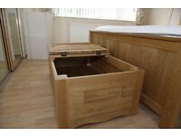 Solid oak blanket box from Oak furniture land