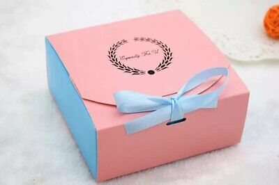 Bakery Boxes   for Cupcake Cookie Party Gift, Pink & blue , pack of 12 - Boxes For Cookies