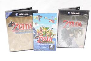 Jeux de Zelda: Twilight Princess et Wind Waker 49.95$ chacun