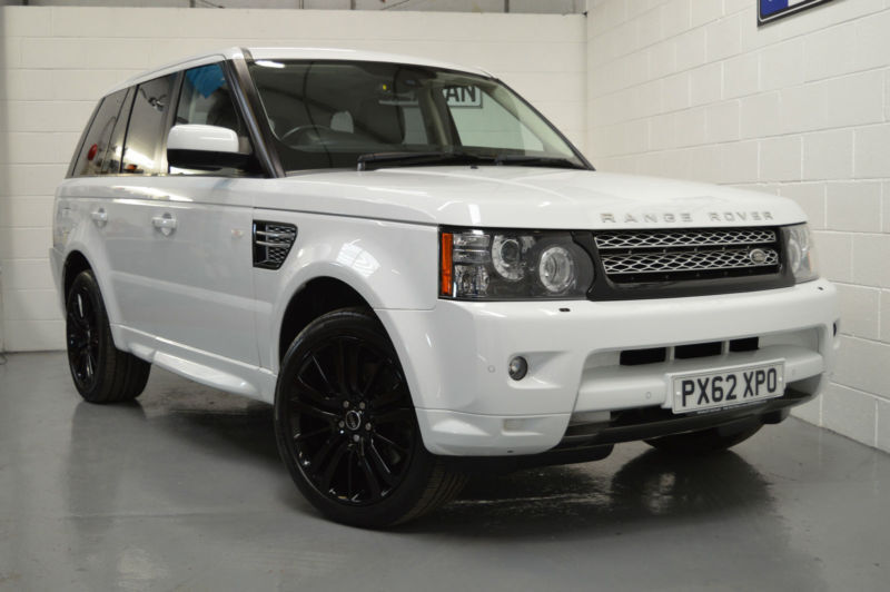 2012 62 land rover range rover sport 3 0 sdv6 hse 4x4 auto fuji white tdv6 in wigan. Black Bedroom Furniture Sets. Home Design Ideas