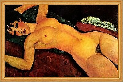 Amedeo Modigliani AKT IN ROT Schlafender Akt mit geöffneten Armen auf LEINWAND19