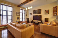 Beautiful condo/loft on the Lachine Canal