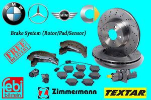 MERCEDES BENZ -BMW- SMART- MINI Brake System (Rotor/Pad/Sensor)
