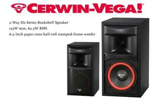 NEW Cerwin-Vega Xls-6 6-Inch 2-Way Xls Series Bookshelf Speaker Condtion: New