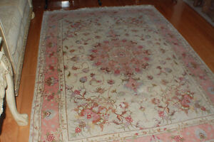 Genuine Tabriz Persian rug wool and silk 50 raj