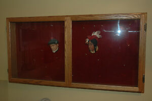 Bosson Heads and Display Cabinet