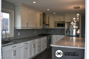 Custom kitchen cabinets, vanities, islands and doors