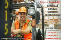 Get Your Forklift Training & Certification (Licence)- Apply Now!