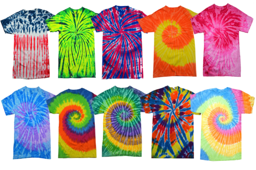 Tie Dye Style T-Shirts for Men and Women - Fun, Multi Color