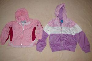 2 manteaux coupe-vent pour filles 6-6X et 7-8 ans