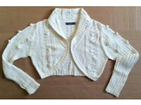 Cardigan NEW, cropped, 100% Cotton, Sz 8...