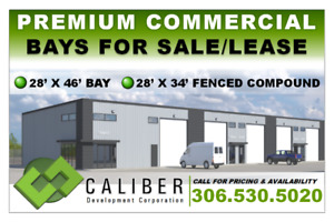 Newly Built Commercial Bays for Lease or Sale - up to 7,728sq.ft
