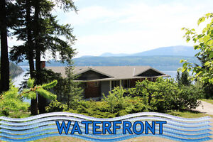 Scotch Creek waterfront with custom cable car beach access!