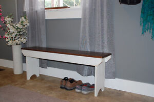 Old Fashioned style wooden bench