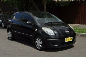 2007 Toyota Yaris NCP91R YRS Black 4 Speed Automatic Hatchback Leichhardt Leichhardt Area Preview