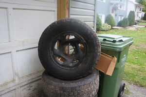 Toyota tundra winter Rims with Tires will fit chev and GM