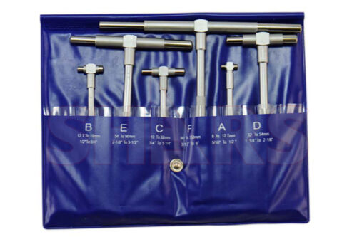 "Stain Chrome Telescoping Gage 5/16"" - 6"" 6 Pc Set Telecope T-Bore Hole Gauge !"