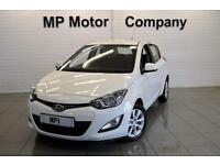 2013/63-HYUNDAI I20 1.2 ( 85PS ) ACTIVE 5DR ECO HATCH, WHITE, 37-000M FHSH.,