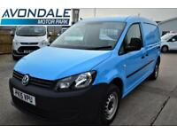 2015 VOLKSWAGEN CADDY MAXI C20 TDI MAXI LOW MILEAGE AND AIR-CON BLUE VAN PANEL V