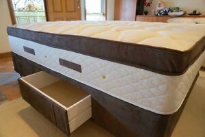 Floor stock Queen size mattress base with 4 drawers (new)s