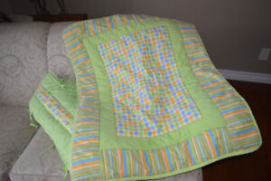 Crib quilt and bumper pads