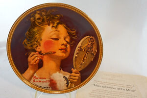 """Norman Rockwell """"Making Believe at the Mirror"""" Plate"""