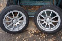 4 Jantes 5x112 avec pneu Marangoni d'hiver