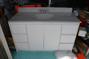 bathroom cabinet, sink, tub and toilet for sale