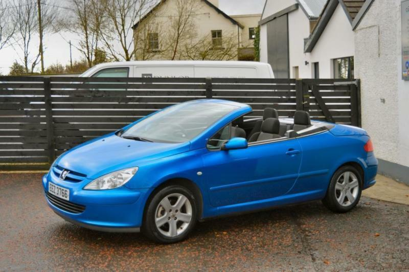 2004 peugeot 307 cc 2 0 16v petrol electric blue 206 tigra convertible in ballymoney county. Black Bedroom Furniture Sets. Home Design Ideas
