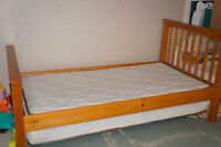 Twin-sized bed-hardwood